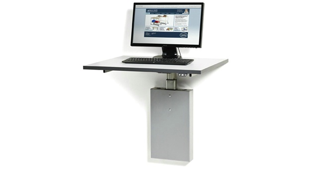 Wall mounted electrically powered workbench