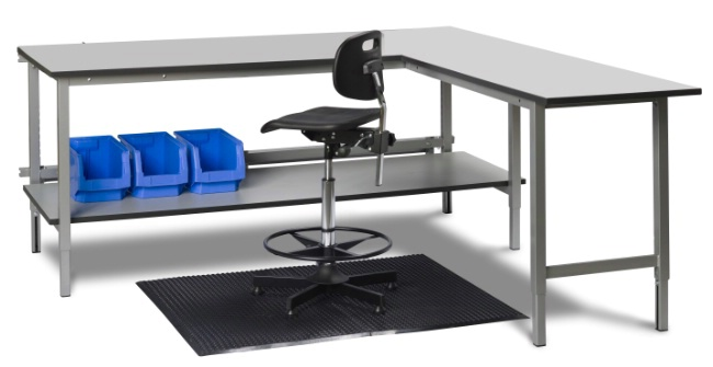 Workbench with angled unit